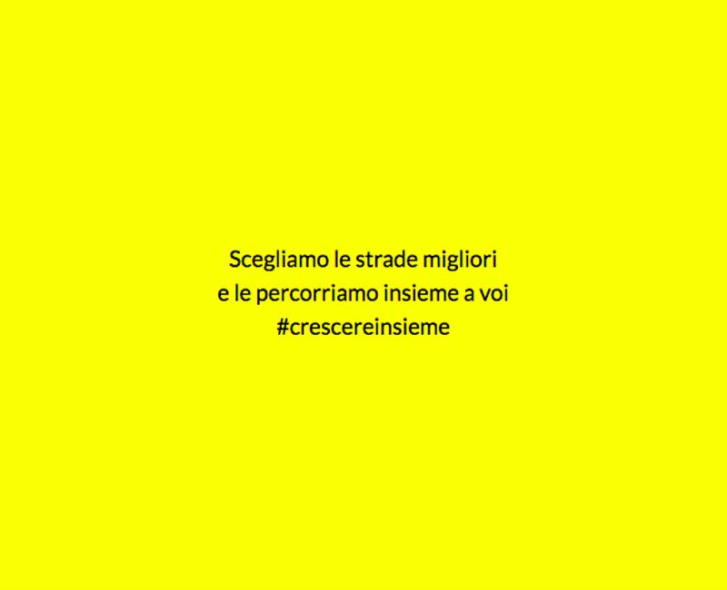 agenzia yellow background text